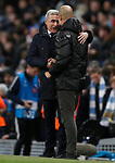 Manchester City manager Pep Guardiola shakes hands with Shakhtar Donetsk manager Luis Castro after the UEFA Champions League match at the Etihad Stadium, Manchester. Picture date: 26th November 2019. Picture credit should read: Darren Staples/Sportimage