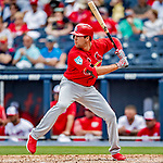 26 February 2019: St. Louis Cardinals outfielder Dylan Carlson at bat during a Spring Training game against the Washington Nationals at the Ballpark of the Palm Beaches in West Palm Beach, Florida. The Cardinals defeated the Nationals 6-1 in Grapefruit League play. Mandatory Credit: Ed Wolfstein Photo *** RAW (NEF) Image File Available ***
