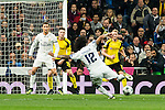 Real Madrid's Cristiano Ronaldo, Marcelo Vieira  during Champions League match between Real Madrid and Borussia Dortmund  at Santiago Bernabeu Stadium in Madrid , Spain. December 07, 2016. (ALTERPHOTOS/Rodrigo Jimenez)