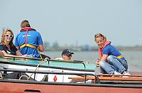 ZEILEN: LEMMER: Lemster baai, 31-07-2014, SKS skûtsjesilen, Epke Zonderland aan boord van Heerenveen, ©foto Martin de Jong