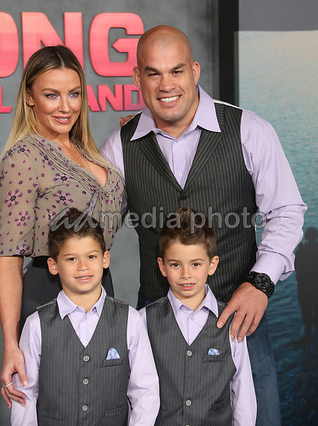 "08 March 2017 - Hollywood, California - Amber Nichole Miller, Tito Ortiz, Jesse Jameson Ortiz, Jacob Ortiz. ""Kong: Skull Island"" Los Angeles Premiere held at Dolby Theatre. Photo Credit: AdMedia"