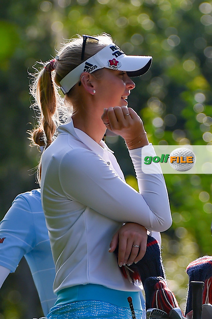Jessica Korda (USA) waits on the tee on 11 during round 2 of the 2019 US Women's Open, Charleston Country Club, Charleston, South Carolina,  USA. 5/31/2019.<br /> Picture: Golffile | Ken Murray<br /> <br /> All photo usage must carry mandatory copyright credit (© Golffile | Ken Murray)