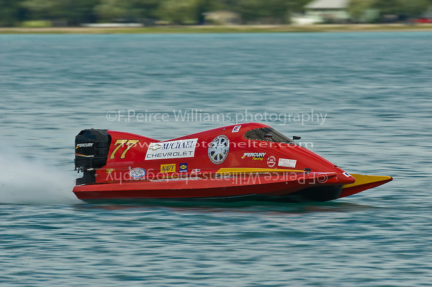 8-10 August 2008  Algonac, MI USA.Chris Fairchild practices in his F1 Tunnel boat Friday..©F.Peirce Williams 2008