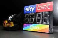 Sky Bet EFL 4th official board with rainbow lace campaign branding during the Sky Bet Championship match between Swansea City and West Bromwich Albion at the Liberty Stadium in Swansea, Wales, UK. Wednesday 28 November 2018