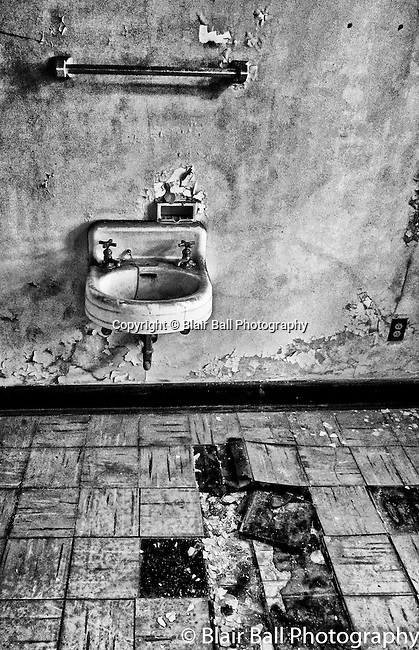 Vicksburg abandoned school bathroom. Located in downtown Vicksburg Mississippi.