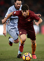 Calcio, ottavi di finale di Tim Cup: Roma vs Sampdoria. Roma, stadio Olimpico, 19 gennaio 2017.<br /> Roma's Diego Perotti in action during the Italian Cup round of 16 football match between Roma and Sampdoria at Rome's Olympic stadium, 19 January 2017.<br /> UPDATE IMAGES PRESS/Isabella Bonotto