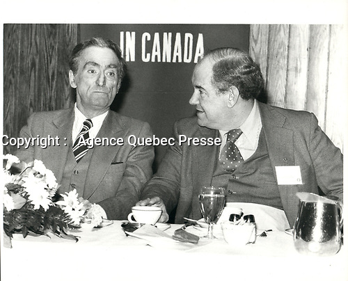 Claude RYAN au Conference Board du Canada, le 1er mars 1979<br /> <br /> PHOTO :  Agence Quebec Presse