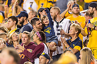 Landover, MD - SEPT 3, 2017: West Virginia Mountaineers fans celebrate a touchdown during game between West Virginia and Virginia Tech at FedEx Field in Landover, MD. (Photo by Phil Peters/Media Images International)