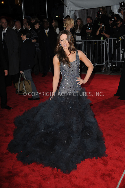 WWW.ACEPIXS.COM . . . . . ....May 4 2009, New York City....Actress Kate Beckinsale arriving at 'The Model as Muse: Embodying Fashion' Costume Institute Gala at The Metropolitan Museum of Art on May 4, 2009 in New York City.....Please byline: KRISTIN CALLAHAN - ACEPIXS.COM.. . . . . . ..Ace Pictures, Inc:  ..tel: (212) 243 8787 or (646) 769 0430..e-mail: info@acepixs.com..web: http://www.acepixs.com