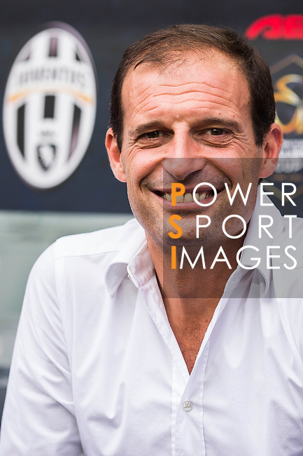 Juventus' head coach Massimiliano Allegri smiles at the South China vs Juventus match during AET International Challenge Cup on 30 July 2016 at Hong Kong Stadium, in Hong Kong, China.  Photo by Marcio Machado / Power Sport Images