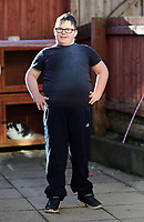 Pictured: Friday 02 February 2018<br /> Re: 12 year old Alex Jones, who has Down's Syndrome, was not dropped off home by bus company CJ Contract Travel Services but instead was discovered at the company's depot in Barry, south Wales, on his way back from Ysgol Y Deri School in nearby Penarth.