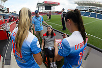 Bridgeview, IL - Saturday June 17, 2017: Fans, Summer Green, Vanessa DiBernardo during a regular season National Women's Soccer League (NWSL) match between the Chicago Red Stars and the Washington Spirit at Toyota Park. The match ended in a 1-1 tie.