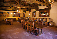 A BANQUET ROOM in CASTELLO DI AMAROSA, a WINERY housed by an authentic but recently constructed ITALIAN CASTLE located near CALISTOGA - NAPA VALLEY, CALIFORNIA