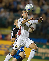 Yura Movsisyan traps the ball during a 3-2 victory by Real Salt Lake in Santa Clara, California, Sept., 27, 2008. Photo by John Todd/isiphotos.com