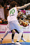 (L-R) Ramu Tokashiki (Sunflowers), Ryoko Yano (Antelopes), MARCH 19, 2013 - Basketball : The 14th Women's Japan Basketball League Playoffs Final Game #4 between Toyota Antelopes 61-72 JX Sunflowers at 2nd Yoyogi Gymnasium, Tokyo, Japan. (Photo by AFLO SPORT) [1156]