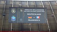 Ankündigung des 1. UEFA Nations League Spiels auf der Tribüne der Allianz Arena - 06.09.2018: Deutschland vs. Frankreich, Allianz Arena München, UEFA Nations League, 1. Spieltag
