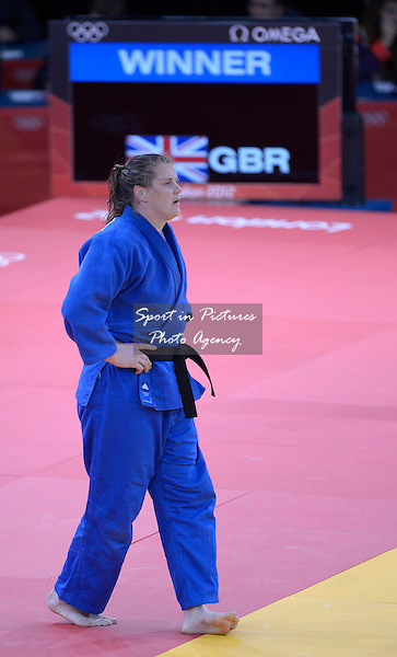 Karina Bryant (GBR, Great Britain). Judo - PHOTO: Mandatory by-line: Garry Bowden/SIP/Pinnacle - Photo Agency UK Tel: +44(0)1363 881025 - Mobile:0797 1270 681 - VAT Reg No: 768 6958 48 - 02/08/2012 - 2012 Olympics - eXcel Centre, London, England