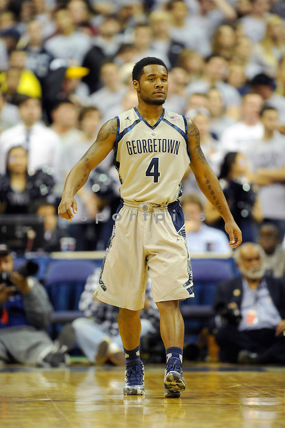 Georgetown Hoyas D'Vauntes Smith-Rivera (4) during a game against the Wright State Raiders on November 13, 2013 at the Verizon Center in Washington, DC. Georgetown beat Wright State 88-70.