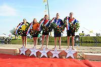 FIERLJEPPEN/POLSTOKVERSPRINGEN: 26-08-2017 Jaarsveld, Nederlands kampioenschap, meisjes Demi Groothedde 15.62 m - dames Fabiënne Overbeek 16.05 m - jongens Reinier Overbeek 19.17m - Junioren Freark Kramer 19.85 m - Senioren Jaco de Groot 21.57 m, ©foto Martin de Jong
