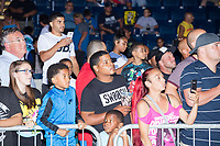 Audience members look on as the wrestlers leave after WWE Champion Jinder Mahal's match against Randy Orton at a WWE Live Summerslam Heatwave Tour event at the MassMutual Center in Springfield, Massachusetts, USA, on Mon., Aug. 14, 2017. Mahal lost the match.