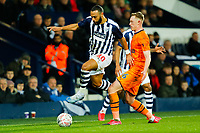 3rd March 2020; The Hawthorns, West Bromwich, West Midlands, England; English FA Cup Football, West Bromwich Albion versus Newcastle United; Matt Phillips of West Bromwich Albion skips over an attempted block by Sean Longstaff of Newcastle United