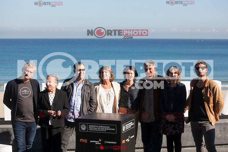 Director Asier Altuna and actors Iraia Elias, Kandido Uranga, Amparo Badiola, Klara Badiola, Ander Lipus, Manu Uranga and Nagore Aranburu pose during `Amama´ film presenation at 63rd Donostia Zinemaldia (San Sebastian International Film Festival) in San Sebastian, Spain. September 21, 2015. (ALTERPHOTOS/Victor Blanco) /NortePhoto.com