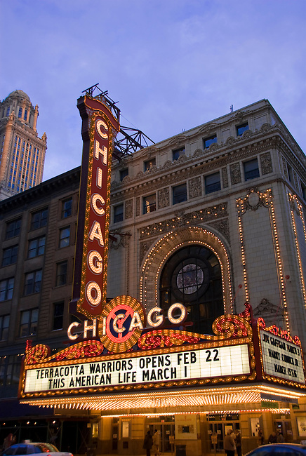 The Chicago Theater in downtown, Chicago, Illinois, USA, February 18, 2007, editorial use only