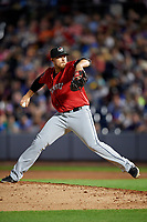 Erie SeaWolves pitcher Jake Thompson (45) during an Eastern League game against the Akron RubberDucks on August 30, 2019 at Canal Park in Akron, Ohio.  Erie defeated Akron 3-2.  (Mike Janes/Four Seam Images)