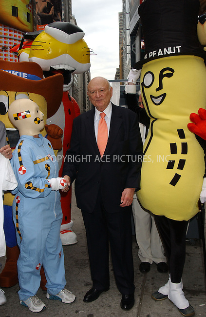 WWW.ACEPIXS.COM . . . . . ....June 20, 2006, New York City.....Ed Koch and Mr Peanut are in Times Square offering campaign tips to 2006 nominees, pluuging Ad Week's contest to determine America's favorite commercials. ....Please byline: KRISTIN CALLAHAN - ACEPIXS.COM.. . . . . . ..Ace Pictures, Inc:  ..(212) 243-8787 or (646) 769 0430..e-mail: info@acepixs.com..web: http://www.acepixs.com