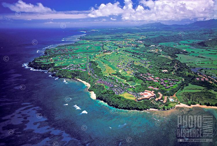 Breathtaking coastal view of Princeville, Kauai