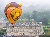 BNPS.co.uk (01202 558833)<br /> Pic: Michael D Buckle/BNPS<br /> <br /> Up, up, and away - Europe's Largest Annual Hot Air Balloon Event is coming to Longleat this weekend.<br />  <br /> And a few of the early arrivals had a safari themed trial run today ahead of the spectacular event.<br /> <br /> More than 200 hot air balloons from around the world will be ascending from Longleat this week (Friday, 13th September - Sunday, 15th September) as part of Europe's largest annual hot air balloon event.<br />  <br /> Now in its fourth year, Sky Safari is one of the Wiltshire attraction's most popular events; featuring spectacular mass launches, tethered daytime displays and dramatic night glows.