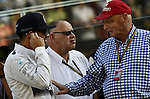 Lewis Hamilton (GBR), Mercedes GP - Niki Lauda (AUT) 3x F1 World Champion, Mercedes-Benz non-executive chairman of the board of directors<br />  Foto &copy; nph / Mathis