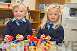 Twins Ryan and Neveen O'Sullivan pictured during their first day at Coolick National School, Kilcummin on Wednesday morning...................................................................................................