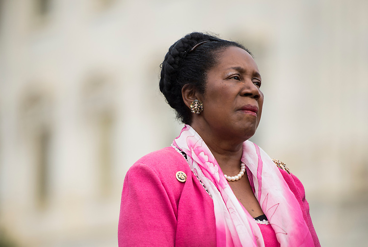 UNITED STATES - APRIL 21: Rep. Sheila Jackson Lee, D-Texas, speaks during the news conference at the Capitol with other members of the Heroin Task Force on combating heroin abuse on Thursday, April 21, 2016. (Photo By Bill Clark/CQ Roll Call)