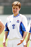 24 July 2005: Iceland's Gudlaug Jonsdottir, pregame. The United States defeated Iceland 3-0 at the Home Depot Center in Carson, California in a Women's International Friendly soccer match.