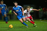 Richard Duffy of Notts County and Alex Samuel of Stevenage during Stevenage vs Notts County, Sky Bet EFL League 2 Football at the Lamex Stadium on 11th November 2017