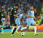 Ilkay Gundogan of Manchester City tracks the ball during the UEFA Champions League Group C match at The Etihad Stadium, Manchester. Picture date: September 14th, 2016. Pic Simon Bellis/Sportimage