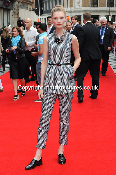 NON EXCLUSIVE PICTURE: PAUL TREADWAY / MATRIXPICTURES.CO.UK<br /> PLEASE CREDIT ALL USES<br /> <br /> WORLD RIGHTS<br /> <br /> Polish actress Agata Buzek attending the UK premiere of Hummingbird at London's Odeon West End.<br /> <br /> 17th JUNE 2013<br /> <br /> REF: PTY 134125