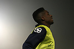 Picture by David Horn/Extreme Aperture Photography +44 7545 970036.18/02/2013.Junior Kanodu of Chelmsford City warms up during the Blue Square Bet Blue Square South  League match at Melbourne Stadium, Chelmsford, Essex.