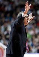 CSKA Moscow's coach Ettore Messina during Euroleague 2012/2013 match.January 31,2013. (ALTERPHOTOS/Acero)