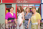 Pictured at a photo call to announce the recent opening of Lilly & Rose Fashion Boutique in Killarney on Monday were Joan Mahony, model Aoife Healy, Majella Mahony and Maureen Aherne.