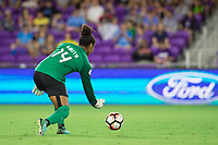 Orlando, FL - Saturday September 02, 2017: Abby Smith during a regular season National Women's Soccer League (NWSL) match between the Orlando Pride and the Boston Breakers at Orlando City Stadium.