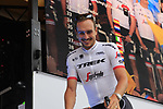 John Degenkolb (GER) Trek-Segafredo team on stage at the Team Presentation in Burgplatz Dusseldorf before the 104th edition of the Tour de France 2017, Dusseldorf, Germany. 29th June 2017.<br /> Picture: Eoin Clarke | Cyclefile<br /> <br /> <br /> All photos usage must carry mandatory copyright credit (&copy; Cyclefile | Eoin Clarke)