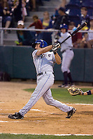 August 24, 2010: Tri-City Dust Devils' Jayson Langfels (55) at-bat during a Northwest League game against the Everett AquaSox at Everett Memorial Stadium in Everett, Washington.