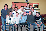 STAG PARTY: James Foley, Rathea, Listowel (seated centre) enjoying his stag party in The Store Bar, Asdee, on Saturday night. Front from left: Joachim Buckley, Alan Foley, James Foley and Danny Regan. Back row from left: John Sheehan, Monty Canty, Jack Nolan, Noel Kelly, Graham Keane, Danny Neville and David OLeary..