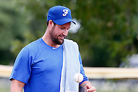 19 September 2012: Team France pitching coach Eric Gagne is seen prior to Team France friendly game against Palm Beach State College, during the 2012 World Baseball Classic Qualifier round, in Lake Worth, Florida, USA.