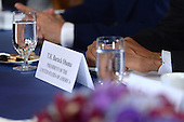 US President Barack Obama attends a Bilateral meeting with Ethiopian Prime Minister Hailemarian Desalegn (not pictured) at the Waldorf Astoria Hotel in New York, NY, on September 25, 2014.<br /> Credit: Anthony Behar / Pool via CNP