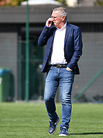 Brugge's head coach Leo Van Der Elst pictured during a female soccer game between Club Brugge Dames YLA and Racing Genk Ladies on the second matchday of the 2020 - 2021 season of Belgian Scooore Women s SuperLeague , saturday 5 th of September 2020  in Brugge , Belgium . PHOTO SPORTPIX.BE   SPP   DAVID CATRY