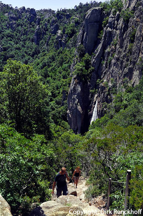 Wasserfall  Cascade de Piscia di Gallo nahe Porto Vecchio, Korsika, Frankreich