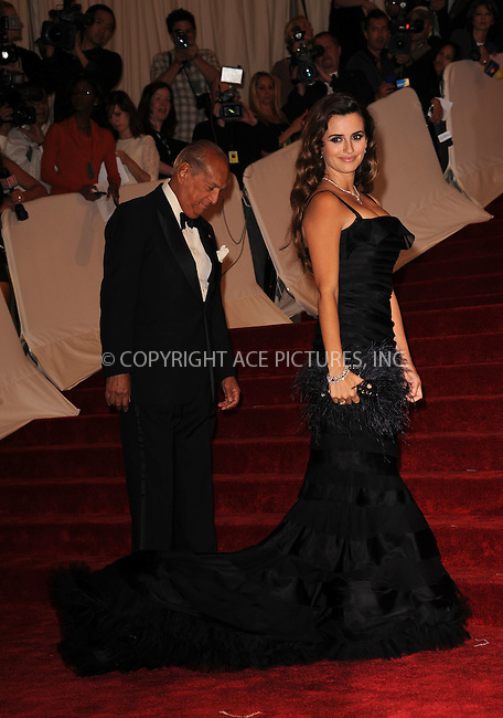 WWW.ACEPIXS.COM . . . . . ....May 2 2011, New York City....Penelope Cruz arriving at the 'Alexander McQueen: Savage Beauty' Costume Institute Gala at The Metropolitan Museum of Art on May 2, 2011 in New York City. ....Please byline: KRISTIN CALLAHAN - ACEPIXS.COM.. . . . . . ..Ace Pictures, Inc:  ..(212) 243-8787 or (646) 679 0430..e-mail: picturedesk@acepixs.com..web: http://www.acepixs.com